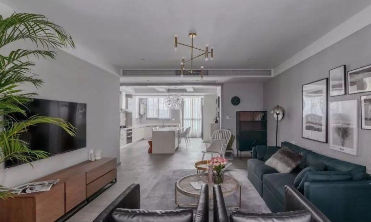 现代北欧三居室,开放式餐厨区颜值爆表,全屋装修超有档次!