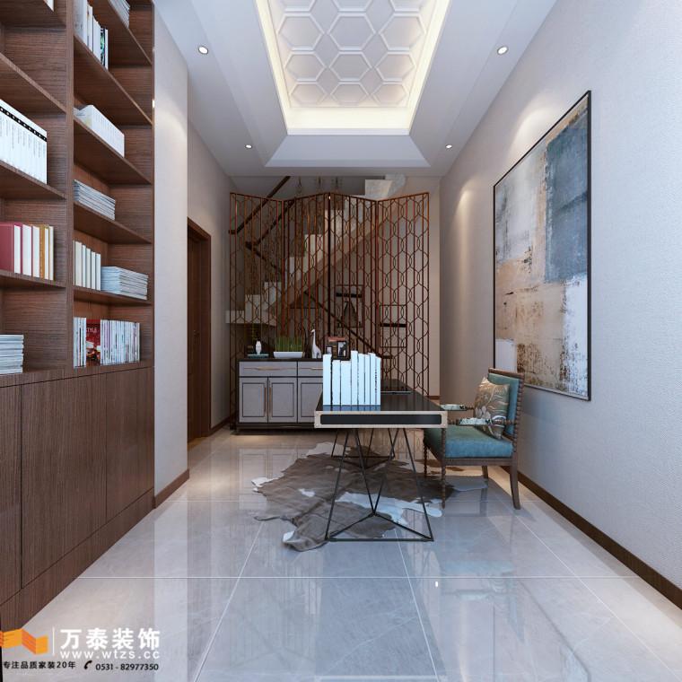 名悦山庄装修,济南万泰设计现代简约风格装修