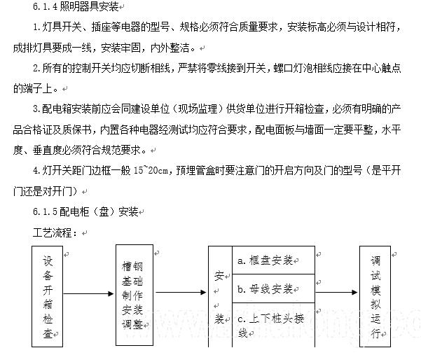 江苏省住宅小区水电安装施工组织设计