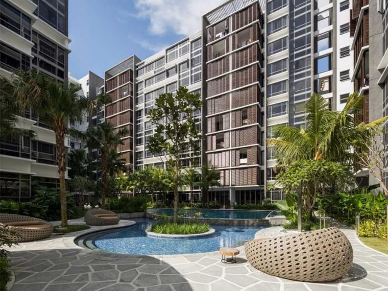 新加坡自然的公寓景观