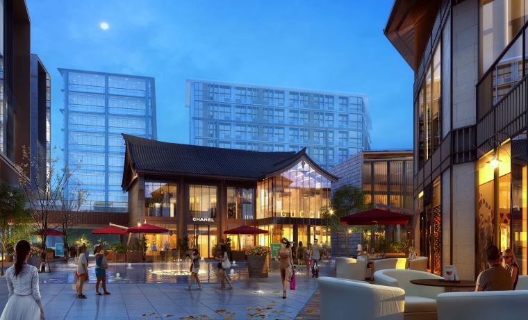 松江新城项目住宅+商业建筑模型设计(2018年)