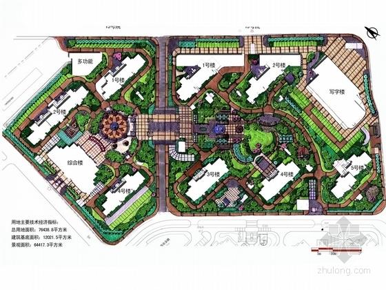 """[北京]主城区""""都市绿洲 东方乐章""""居住区景观设计方案"""