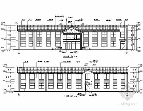 [四川]两层框架结构磷矿职工医院结构图(含建筑图)