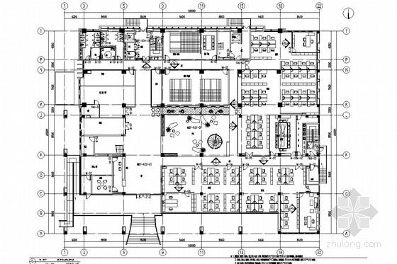 [淮安]甲级综合性勘察设计单位综合办公楼施工图(含效果图)