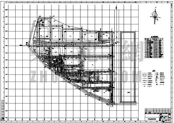 某厂区给排水管道平面布置图