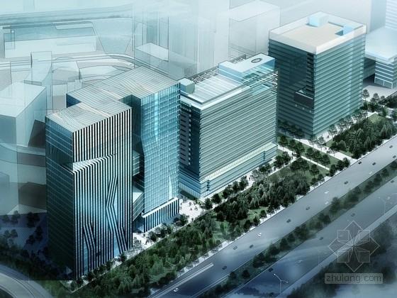 [深圳]24层双筒结构知名电子企业研发大厦建筑设计方案文本(含CAD 多媒体)
