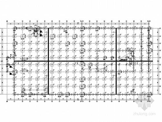 [辽宁]四层钢框架及钢混组合结构商贸城结构图(含建筑图)