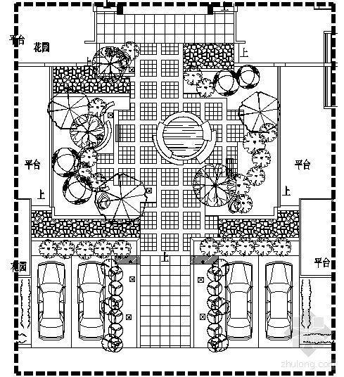 重庆别墅区16#四合院内庭景观施工图-2