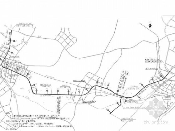 [贵州]含6座钢箱梁天桥2座板桥40~60米宽物流大道施工图682张(管线景观照明交通)