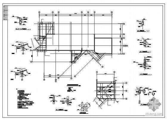 某二层砖混教学楼结构图