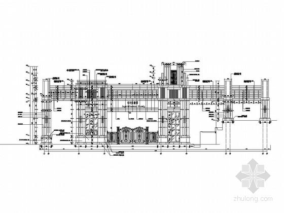 住宅小区主入口大门结构施工图(含建筑图)