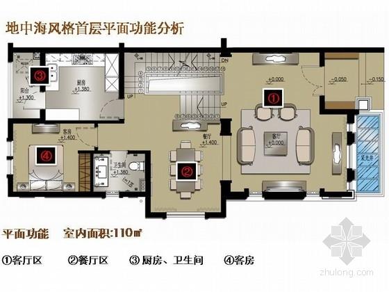 [东莞]生态园地中海风格联排别墅室内设计方案