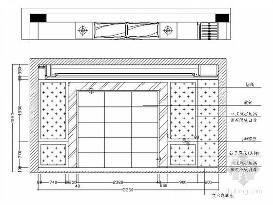 [江西]风景名胜区现代风格三层别墅装修施工图立面图