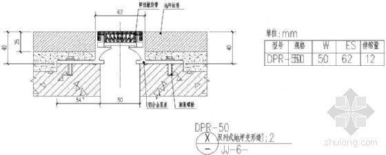 双列式地坪变形缝(一)