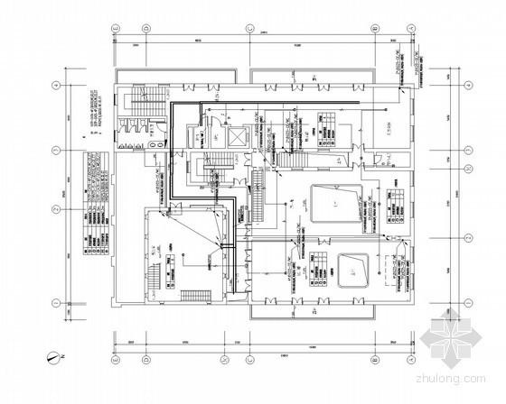 [上海]大型展览馆全套弱电施工图纸(含楼宇监控、安保系统)