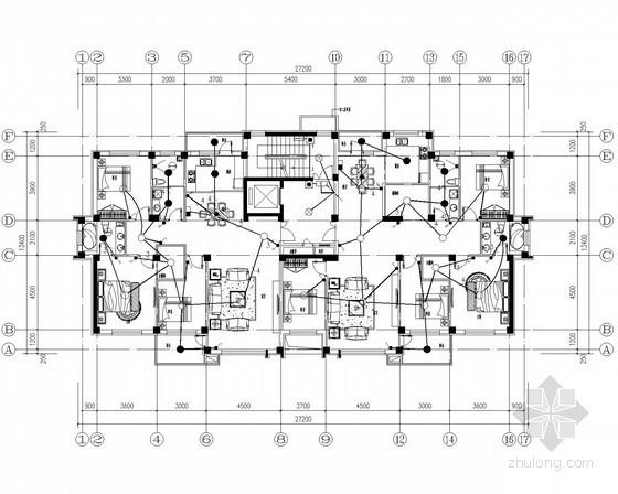 普通住宅建筑强弱电施工图纸