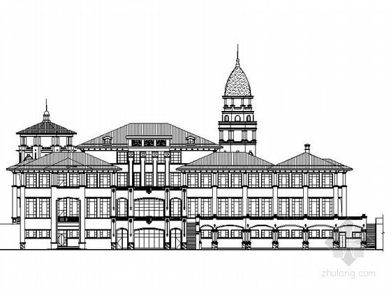 [武汉]某高档别墅区三层欧式会所建筑施工图