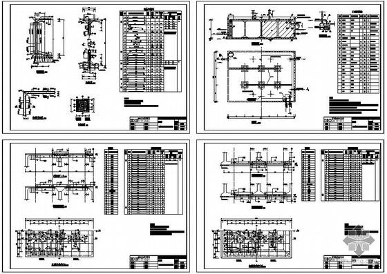 某600立方矩形清水池结构设计图