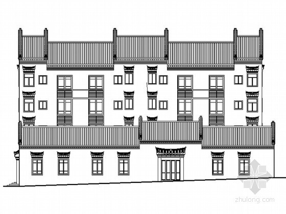某四层古建筑民居建筑施工图