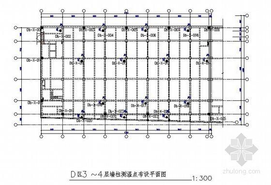 [北京]研发中心冬季施工方案(测温点布设图)