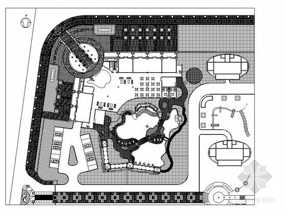 居住区会所周边环境园林景观工程施工图