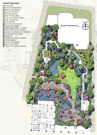 [北京]饭店庭院环境景观设计方案