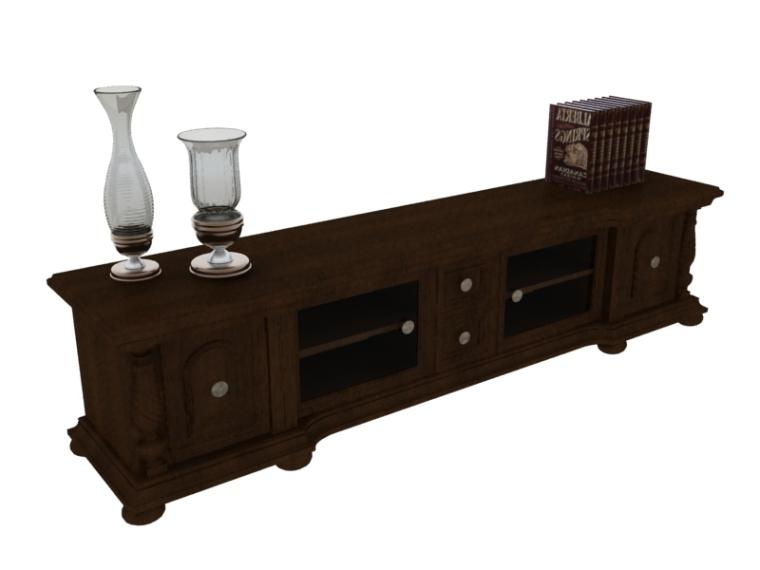 欧式古典电视柜3D模型下载