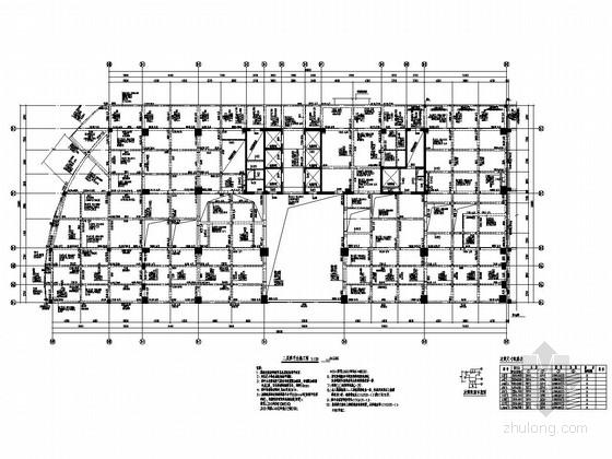 [福建]地上22层现浇框架剪力墙结构办公楼结构施工图