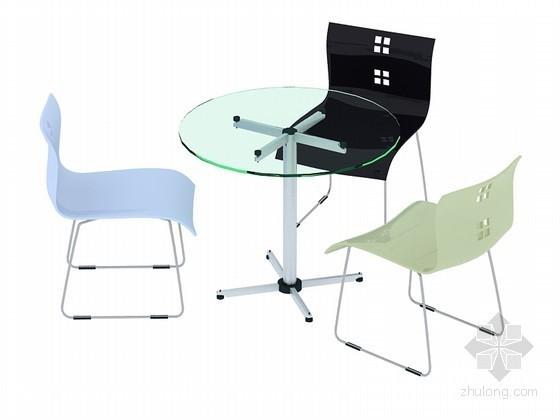 时尚洽谈桌椅3D模型下载