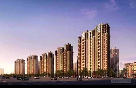 [安徽]都市文化商务住区规划设计方案文本(垂直都市理念)-都市文化商务住区规划效果图