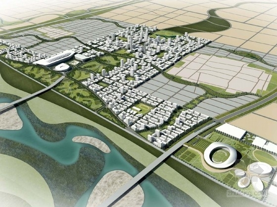 [河北]现代风格城市新区概念性规划设计方案文本(170张方案图)