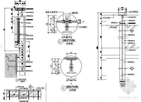 玻璃钢管栏杆节点图集