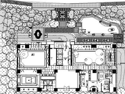 [长沙]城市广场产品示范区景观工程施工图