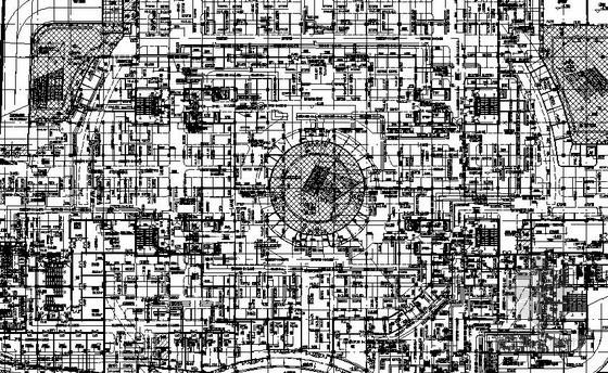 [江苏]地下购物广场空调通风及防排烟系统施工图纸
