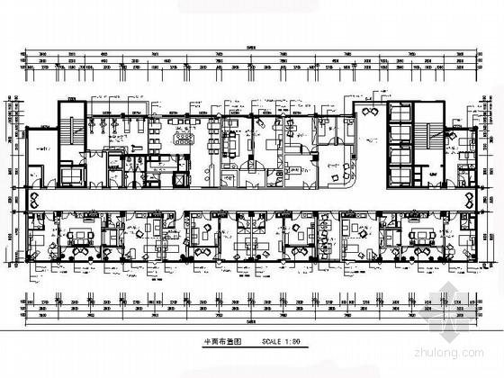 [重庆]清新优雅三级甲等中医院住院楼室内装修施工图
