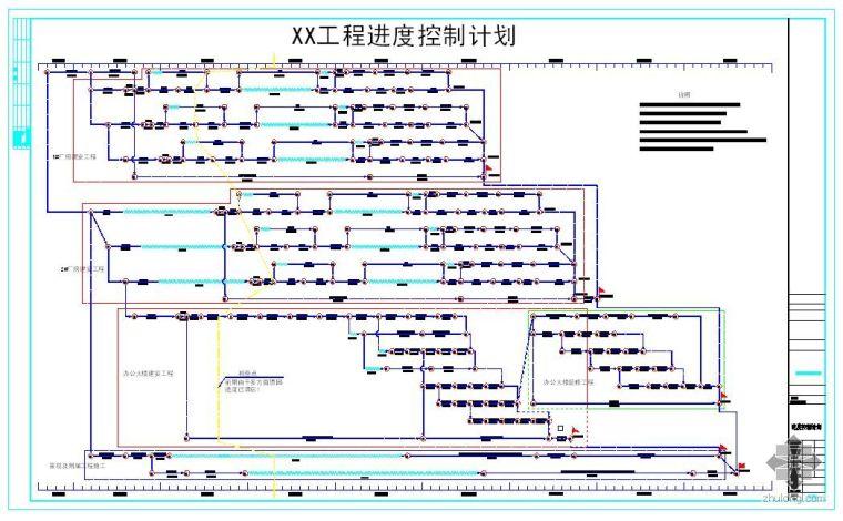 某厂房及附属办公楼项目施工进度网路计划