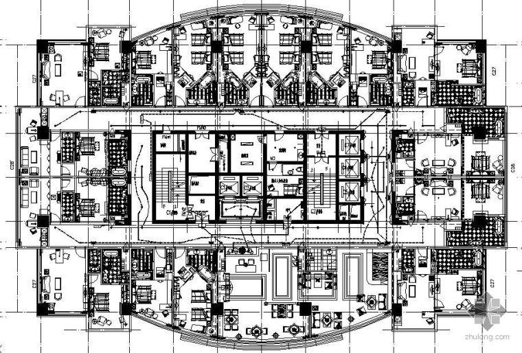 北京某酒店装修电气平面图