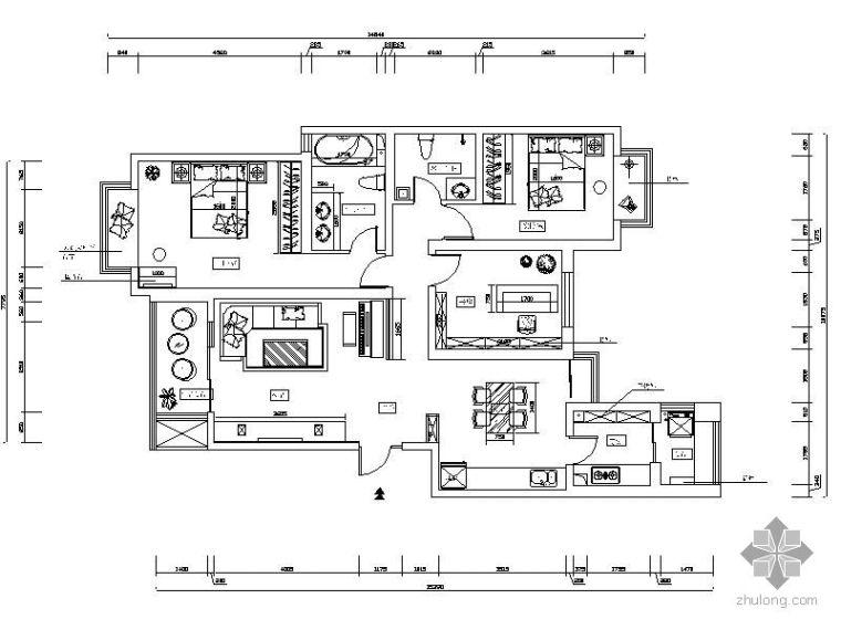 三室两厅设计图(含效果)