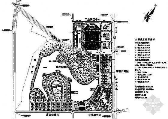 大型工业厂区中心详细规划图