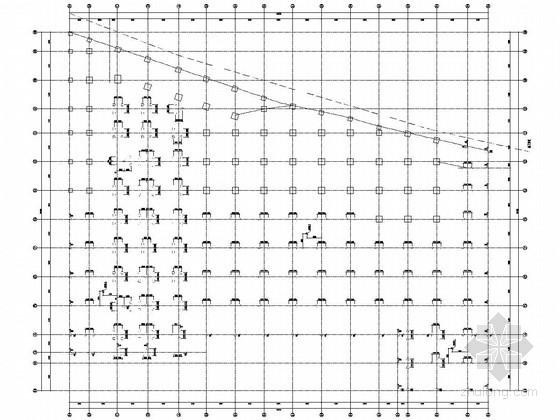九层含少量剪力墙的框架结构大型水利工程办公楼结构施工图