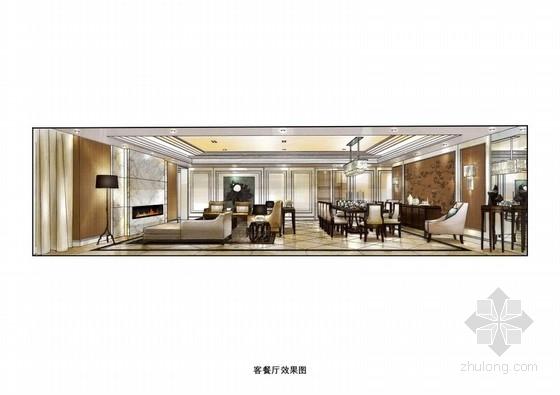 [北京]某高级住宅小区样板间设计方案图