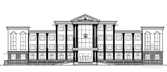 [临城镇]某四层办公楼建筑施工带效果图图