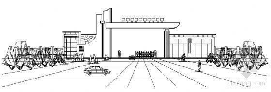 某学校大门建筑初步图