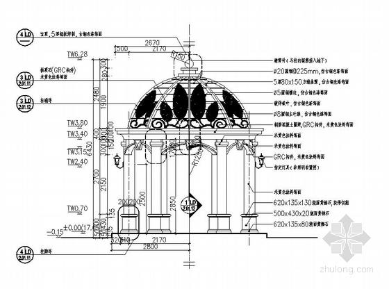 [东莞]居住区综合楼广场园林景观工程施工图-图6
