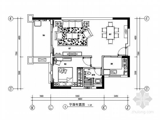 [广州]南湖某花园洋房C户型室内装修图(含选材表)