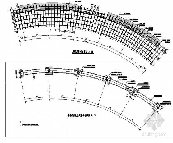 钢木结构单臂花架详图