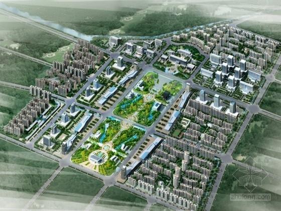 [河南]某城市中心区设计方案文本(含CAD)