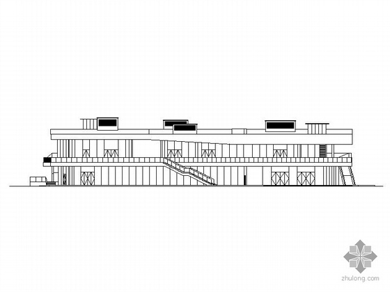 现代商业街两层资料下载-[三亚]某半山半岛商业街2#楼建筑施工图