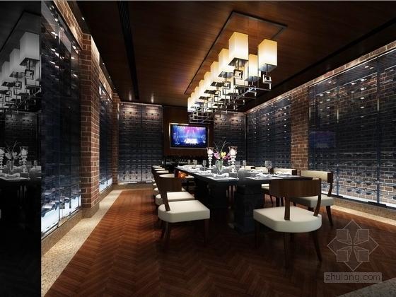 [北京]某公园美食会所室内装饰设计方案效果图