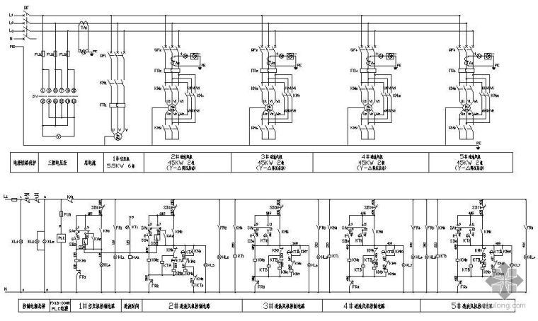 广州某水上乐园工程配电图纸